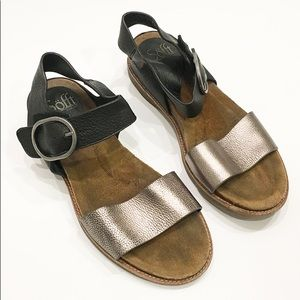 Sofft leather sandals Sz 8
